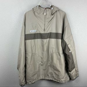 Columbia hooded 1/4 zip windbreaker jacket XXL